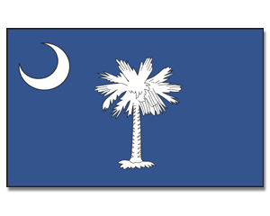 Flagge South Carolina