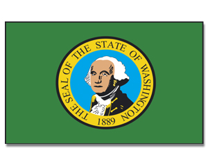 Flagge Washington